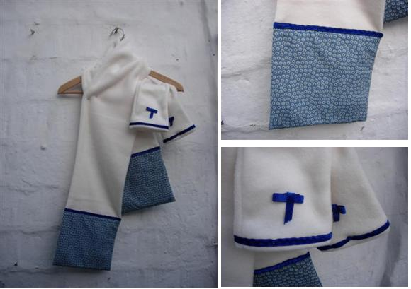 bufanda i guants blau