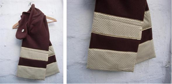 bufanda i guants marró topets