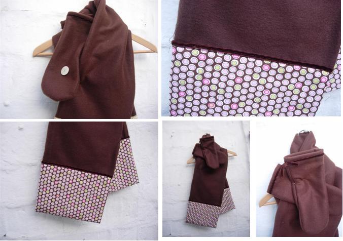 bufanda i guants marró