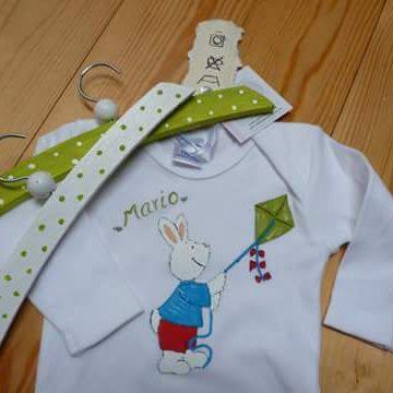 Bodi nadó, silueta i penjadors de fusta pintat a mà Mario